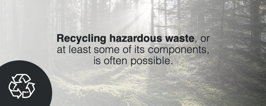 how to recycle hazardous waste